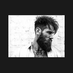 Bearded Men: 40 Trending Hairstyles For Men With Beards. Trending Hairstyles For Men, Mens Hairstyles Fade, Cool Mens Haircuts, Men's Haircuts, Men's Hairstyles, Beard Styles For Men, Hair And Beard Styles, Short Hair Styles, Bart Styles
