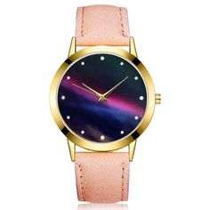 Cheap watch f, Buy Quality watch fashion directly from China watch watch Suppliers: GAIETY Relogio feminino Women Fashion Starry Sky Leather Band Analog Quartz Round Wrist Watch Watches Drop Cheap Watches, Women's Watches, Wrist Watches, Luxury Watches For Men, Stylish Watches, Couture, Shop Usa, Retro Design, Fashion Watches