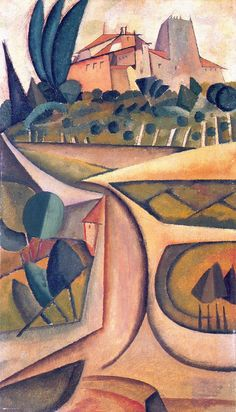 House Manhufe by Cubist Paintings, Cubist Art, Art And Illustration, Corpus Christi, Modernisme, Art Through The Ages, Call Art, Greek Art, Grand Palais