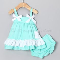 Adorable swing top and matching ruffle bloomers.    Great for photos, birthday parties, special occasions, or even just everyday wear for your