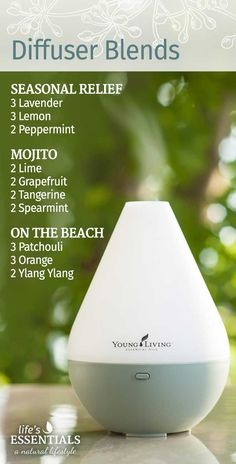 Great essential oil diffuser blends for the summer!