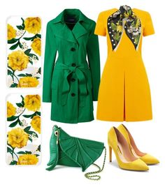 """""""🌼🍃Yellow & green🍃🌼"""" by jojoberryperry ❤ liked on Polyvore featuring Lands' End, Warehouse, Rupert Sanderson, Dolce&Gabbana and Sonix"""