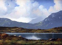 Resting Lough Inagh Connemara by Eileen Meagher Irish Art, Connemara, Belfast, Contemporary Paintings, Dublin, Art Gallery, Bucket, Sculpture, Craft