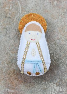 Holy family felt saint dolls catholic toys felt doll easter each doll is roughly 5 inches tall and about an inch thick stuffed negle Choice Image