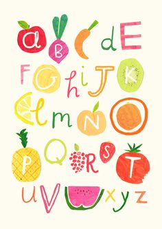 fruit alphabet