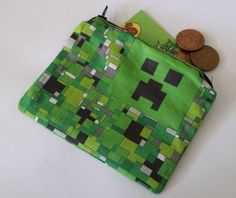 Coin purse made using Minecraft Fabric £5.00
