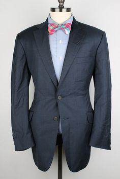 INCREDIBLE Richard James Savile Row Dark Blue Wool 40 R mens Sport Coat Blazer #RichardJames #TwoButton