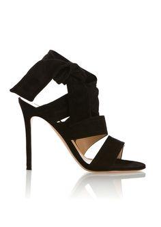 GIANVITO ROSSI Gianvito Rossi Black Suede Sandals. #gianvitorossi #shoes #