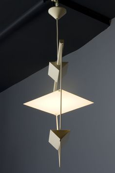 Inverted Triangle Hanging Light by Mario Botta for Artemide image 5