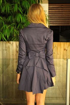 Art trench coat with a back bow clothes-over-bro-s
