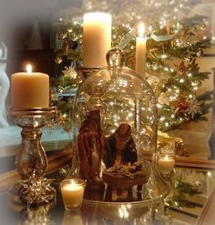 35 Simple Beautiful Christmas Centerpieces Ideas That Every People Could Make Itself – GooDSGN Meaning Of Christmas, Christmas Nativity, Merry Little Christmas, Christmas Love, Beautiful Christmas, Christmas Holidays, Christmas Crafts, Christmas Decorations, French Christmas
