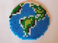 Bügelperlen-Vorlage: Welt