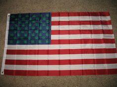 3x5 Marijuana Green Stars Weed USA Pot Flag 3'x5' Banner Brass Grommets #RFCO