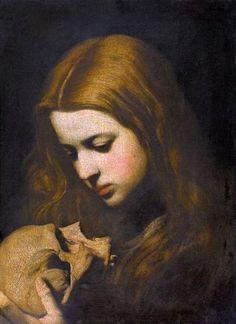 """Jusepe de Ribera (called Lo #Spagnoletto),"""" Maria Magdalena in meditazione """"."""