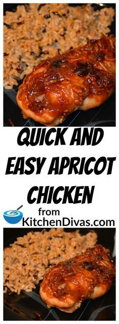 I have been making this chicken recipe for years.  It involves literally no preparation and minimal clean up.  Little effort and a great result.  We are moving this week so everything is about quick and easy.  I thought this is the perfect time to make this version of my Apricot chicken.  #chicken #recipe #chickenbreast #dinner #supper