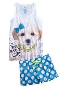 Ruff Being Cute Pajama Set | Girls Pajamas & Robes Pjs, Bras & Panties | Shop Justice