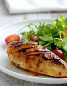 Low FODMAP Recipe and Gluten Free Recipe - Sweet chlli chicken http://www.ibssano.com/low_fodmap_recipe_sweet_chili_chicken.html