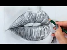 How to Draw a Realistic Mouth & Lips - YouTube