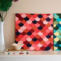 Make circle punch wall art.  http://www.youaremyfave.com/2012/05/21/scallop-wall-art-is-my-fave-guest-post-from-brooke/