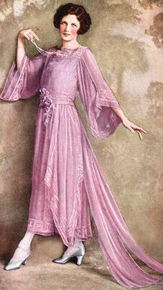 1922 Irene Castle in a Lucile tea-gown