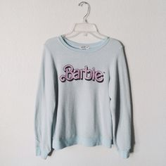 Wildfox Barbie Sweater Super cute mint pullover barbie sweater from Wildfox! its super soft and has only been worn a couple times!!! this is kids 12 but fits XS.  I'm 5' for reference and this fits me perfectly (: Wildfox Sweaters