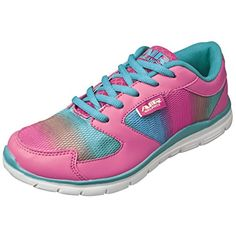 682e10112837 back to basics Air Balance Girls Hot Pink Cyan Lightweight Cross Trainer  Shoes Best Hiking