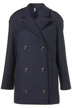 Navy Boyfriend Pea Coat