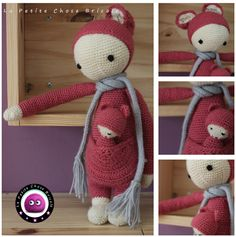 FIBI the fox made by Tiphanie D. / crochet pattern by lalylala