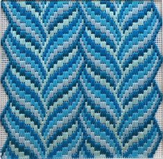 Vines Turquoise The post Small monochrome needlepoint kit. Vines Turquoise appeared first on Embroidery and Stitching. Broderie Bargello, Bargello Needlepoint, Needlepoint Stitches, Needlepoint Canvases, Needlework, Plastic Canvas Stitches, Plastic Canvas Crafts, Plastic Canvas Patterns, Palacio Bargello
