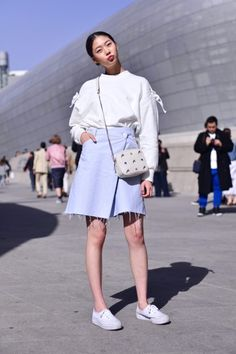 Street style: Kim Ye Rim shot by Baek Seung Won at Seoul Fashion Week Fall 2015