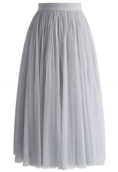 Ethereal Tulle Mesh Midi Skirt in Grey - Tulle Skirt - Trend and Style - Retro, Indie and Unique Fashion Grey Tulle Skirt, Mesh Skirt, Tulle Skirts, Midi Skirts, Unique Fashion, Chicwish Skirt, Calf Length Skirts, Indie, Layered Skirt