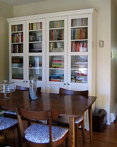 Liatorp Bookshelf with Glass Doors - or this