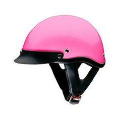 Half Helmets - Motorcycle Half Helmet DOT 100 Pink