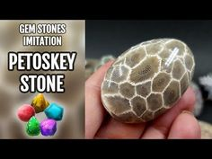 How to make Faux Petoskey Stone from Polymer clay! Unique video tutorial! - YouTube
