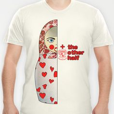 Matryoshka Hearts Right T-shirt