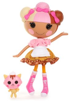 44. Scoops Waffle Cone Full Size Doll Sewn from Ice Cream on July 19th (National Ice Cream Day) Pet Ice Cream Cat