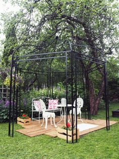 vintage style ideas for garden