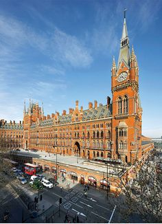The St. Pancras Renaissance Hotel lets you peek into the platforms of the adjacent train station right from your room.