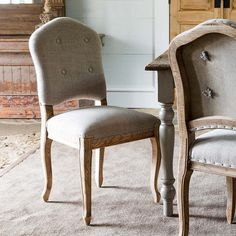 Upscale Linen Dining Chair, Set of 2