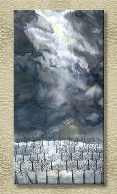 Frozen - Silk Painting from the Magic Landscapes series