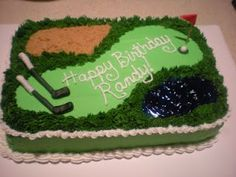 Golf Party Ideas for Adult Celebration City, Celebration Cakes, Birthday Celebration, Cake Cookies, Cupcake Cakes, Cupcakes, Golf Course Cake, Sport Cakes, Vanilla Icing