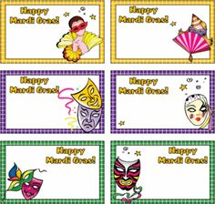 Mardi Gras Gift Tags from Family Shopping Bag