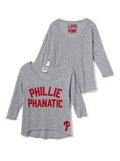 Philadelphia Phillies Long-sleeve Drapey Tee - Victoria's Secret Pink® - Victoria's Secret
