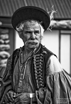 Hungarian, or magyar, what character .so handsome! Hungary Travel, Folk Costume, Costumes, Hungarian Embroidery, Arte Popular, Budapest Hungary, My Heritage, People Of The World, Portraits