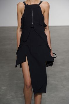 RAD by Rad Hourani Spring 2012 - Details. Deconstructed style black dress #minimalist #fashion