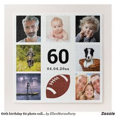 Shop birthday 30 photo collage man guy white jigsaw puzzle created by EllenMariesParty. Forty Birthday, 90th Birthday Parties, Birthday Celebration, Birthday Ideas, Custom Gift Boxes, Customized Gifts, Worlds Best Dad, Make Your Own Puzzle, Puzzles For Kids