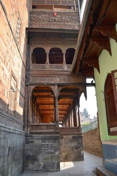 Ornate Srinagar Old City