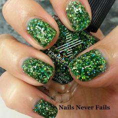 Nail inspiration: Sephora X Lightning by trexxx. #Sephora #sephoranailspotting #green