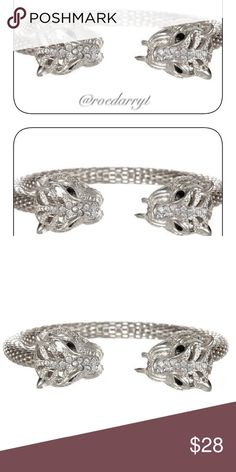 Silver Leapord Head Cuff No Lead or Nickel 18k plated metals FREE OF LEAD AND NICKEL T&J Designs Jewelry Bracelets