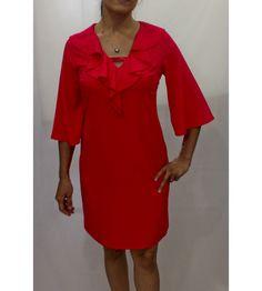 collar ruffle dress